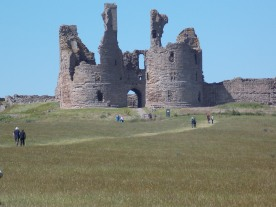 Amid the ruined castle