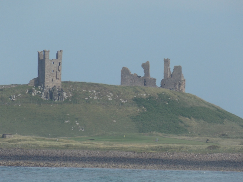 Dunstanburgh Castle from Dunstan Steads